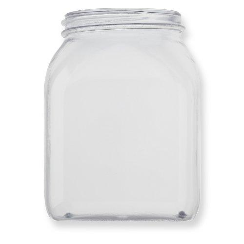 Qosina 99885 PVC Wide Neck Jar, Square, 500mL Capacity (Pack of 25) by Qosina (Image #2)