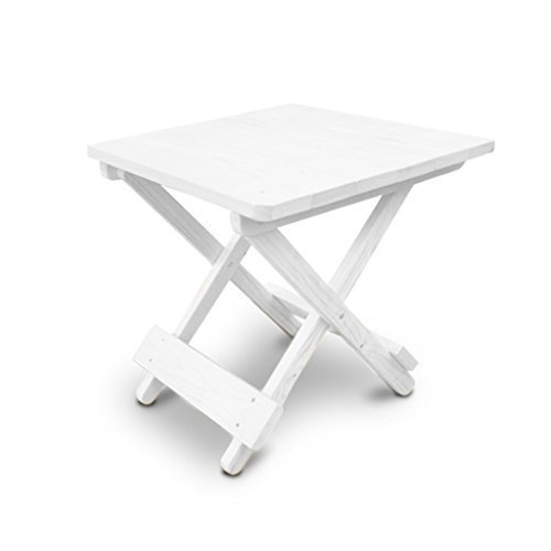 Genial Square White Wooden Folding Garden Side Table   Indoor / Outdoor:  Amazon.co.uk: Kitchen U0026 Home