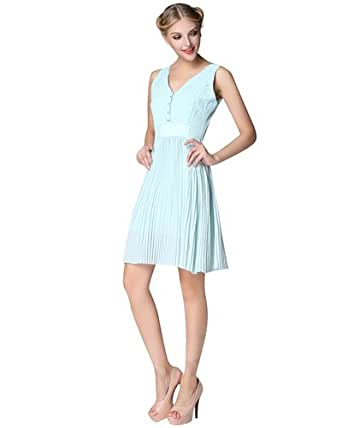 0322ba304 Image Unavailable. Image not available for. Colour  New Tedbaker UK Faybll Lace  Bodice Reversible Dress Powder Blue XL