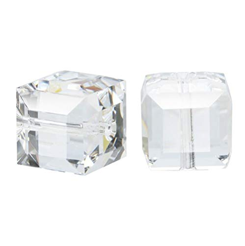 - 100pcs 6mm Adabele Austrian Cube Crystal Beads Crystal Clear Compatible with Swarovski Crystals Preciosa 5601 SSC601