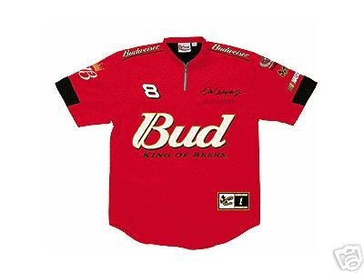 - Chase Authentics Dale Earnhardt Jr. NASCAR Red Pit Crew Jersey Shirt, Extra Large