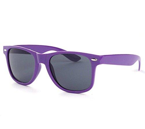 Wayfarer Outdoor Sunglasses Vintage Mens Womens Non Polarized Retro Sunglasses by BP HOUSE (Purple) -