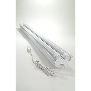 White 48W Hanging Shop Light 4 ft. 2 light Ceiling Light Fixture ...