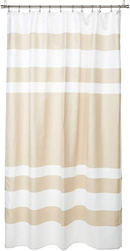 Madison Park Spa Waffle Shower Curtain with 3M Treatment Taupe 72x96 (Renewed) (Waffle Shower Spa Curtain)