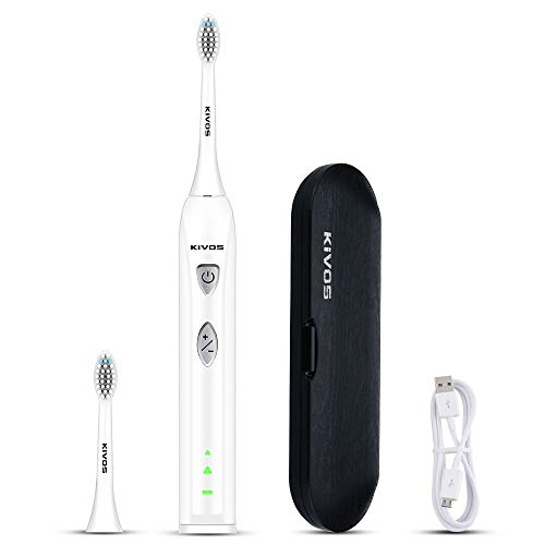 KIVOS Toothbrush Heads (3pcs) for Children, Brush Heads Sonic Electric Toothbrush Replacement Heads S6137 (Black) (S52-White)
