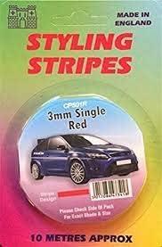 Gold White Pin Stripe 3mm x 10mtr Self Adhesive Car Pin Stripe Black Silver Coach Tape Styling Stripe Black Red
