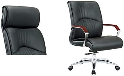 Lxtx sedia da ufficio in pelle nera sedia da studio regolabile per
