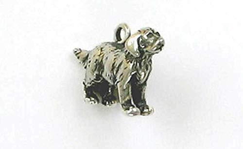 Sterling Silver 3-D Golden Retriever Charm for Jewelry Making Bracelet Necklace DIY Crafts