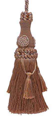 "Decorative 7"" Key Tassel/Beige Multi Tone/Baroque Collection Style# BKT Color: Sandstone - 7245"