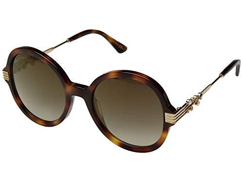 Jimmy Choo Women's Adria/G/S Dark Havana/Brown Gold One Size
