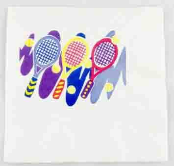 Amazon.com | Tennis Napkins - Racquets and Balls - 3 Pack ...