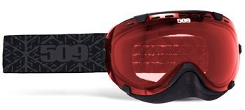 509 Aviator Snow Snowmobile Goggles - Black - Rose Tint Lens - 509-AVIGOG-16-BK by 509