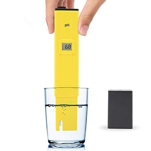 Clan_X PH Meter, Digital PH Tester for Testing Water Quality, Hydroponics, Fish Tank, Pond, 0-14 PH Measurement Range with 0.1PH Resolution ()