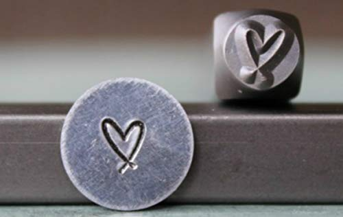 Brand New 5mm Heart Crisscross Metal Punch Design Stamp - Supply Guy - CH-264