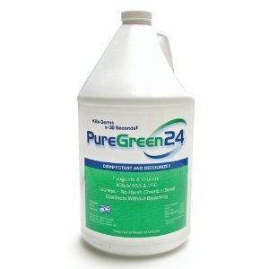 PureGreen24 (Gallon) Disinfectant, Kills Deadly Germs Including 2018 Flu & MRSA Without The use of Toxic Chemicals.