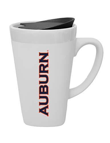 The Fanatic Group Auburn University Ceramic Mug with Swivel Lid, Design 1 - White