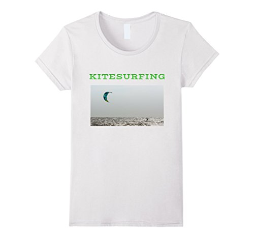 Extreme Water Sports (Womens Kitesurfing Extreme Water Sport T-shirt Small White)