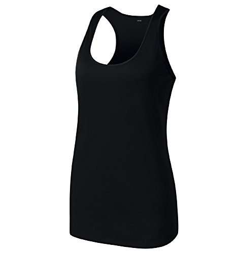[Opna Racerback Tank Tops for Women Moisture Wicking Workout Shirt Sizes XS-4XL BLACK-L] (Athletic Works Jacket)