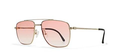 Burberrys B8825 000 Gold Flat Lens Vintage Sunglasses Round For Mens and - Sunglasses Vintage Burberry