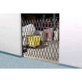 6-1/2'W Single Folding Security Gate, 8'H