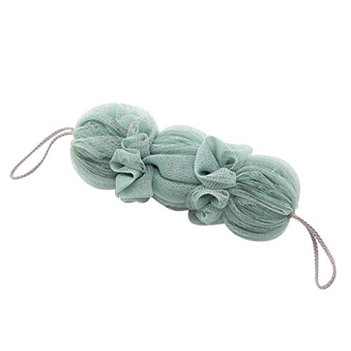 YAYUMI Long Loofah Bath Shower Sponge Pouf Mesh Ball Exfoliating Premium Scrubber
