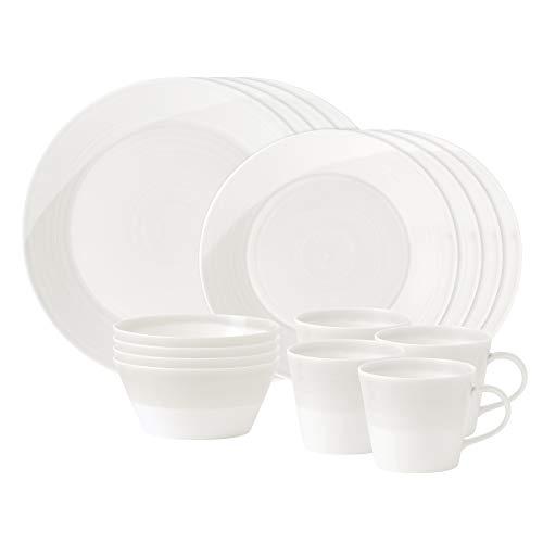 Royal Doulton 1815 16-Piece Dinnerware Set, White