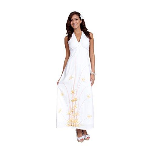 White Batik Floral Dress - 7
