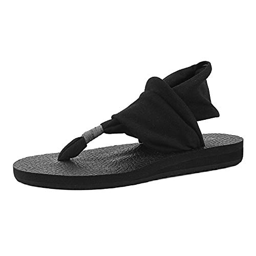 FITORY Womens Flip Flops Yoga Sling Flat Thong Sandals Lightweight Shoes Size 6-11