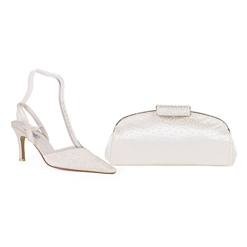Farfalla Luxury Shoes And Bag Ivory