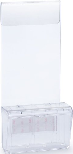 Displays2go Clear Acrylic Mobile Business Card Holder with Lid and Car Window Mount for 50 Cards - Car Card Business