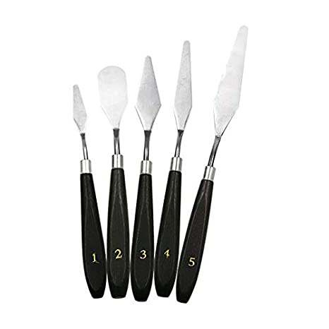 SEN 5 Piezas de Juego de Cuchillos de Pintura Cuchillo de ...