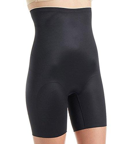Chantelle Women's Basic Shaping High Waist Mid-Thigh Shaper, Black, XL (Chantelle Women Underwear Briefs)