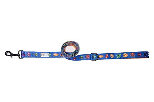 Bulltastic Monster Mania Dog Leash – Premium Quality Polyester and Neoprene – Convenient D-Ring – Universally Compatible