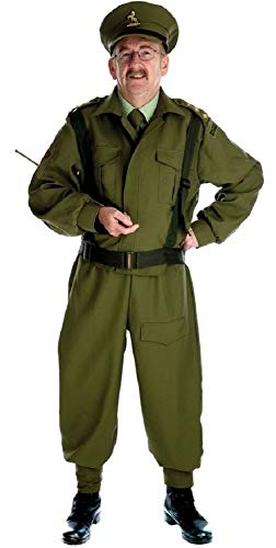 Mens WW1 WW2 1940s Home Guard Army Armed Forces Military Fancy Dress Costume Outfit M-XL (Large) -