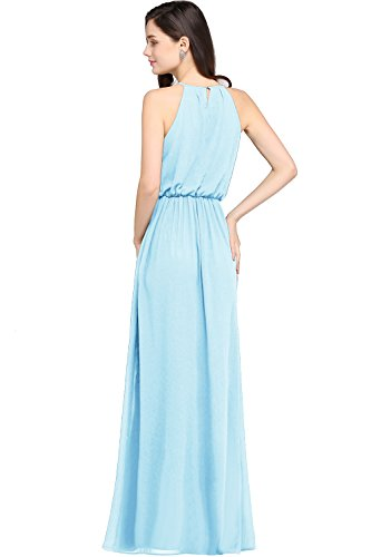 Chiffon Babyonlinedress Maxi Casual Women's Blue Dress Dress Formal Halter Evening 4qXqrCF
