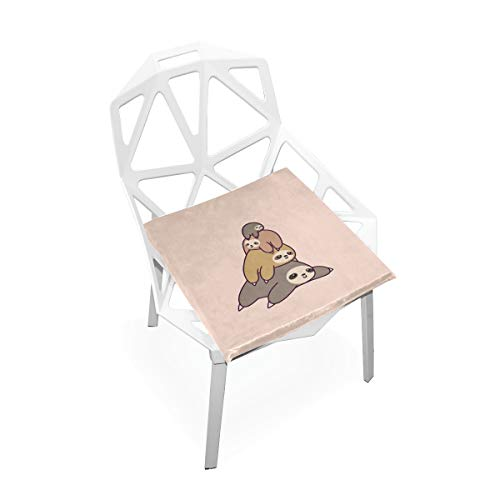 k Chair Pad Memory Foam Chair Cushion Cover Office Seat Pads Vintage Seat Pillow 16X16 Inches ()