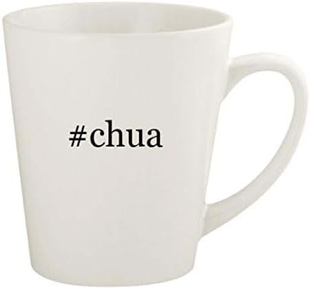 #chua - 12oz Hashtag Ceramic Latte Coffee Mug Cup, White