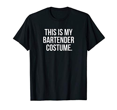 Mens This my Bartender Costume funny halloween tee shirt gift XL Black for $<!--$17.99-->