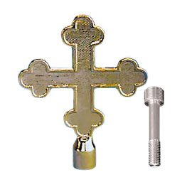 Botonee Cross Top Ornament 6-3/4 Inch With Spindle Gold (Botonee Cross)