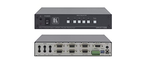 Kramer VP-411DS 4x1 Computer Graphics Video and Stereo Audio Standby Switcher (15-Pin VGA/UXGA Video and 3.5mm Mini Audio) ()