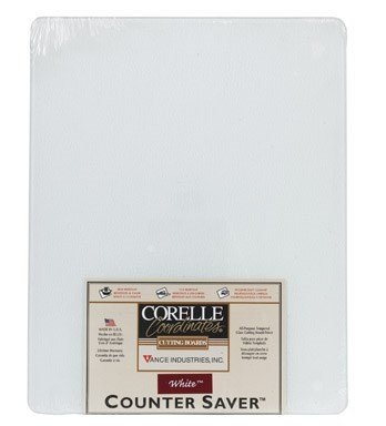 (Corelle White Enhancement 15 X 12 inch Counter Saver Tempered Glass Cutting Board, 91512WHCH)