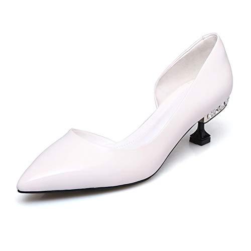 Stiletto Heel Green Leather White ZHZNVX Pump Shoes Black Basic Black Women's Summer Heels Patent 6q8znTq