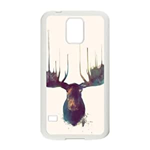 Samsung Galaxy S5 Phone Case Cover White Moose EUA15992480 Plastic Hard Cell Phone Case