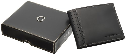 Guess Men's Passcase Billfold, Black, One Size