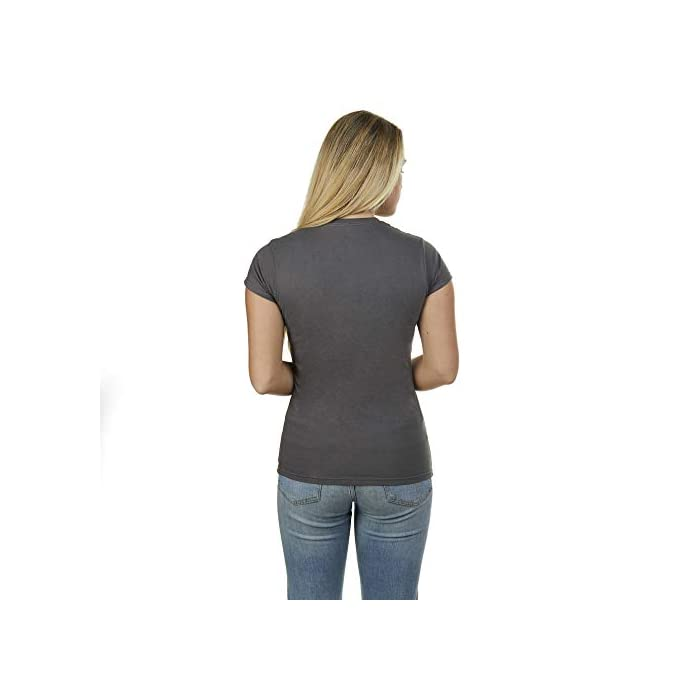 Producto oficial de Disney. Estilo: camiseta de corte regular para mujer. 90% Algodón, 10% Poliéster