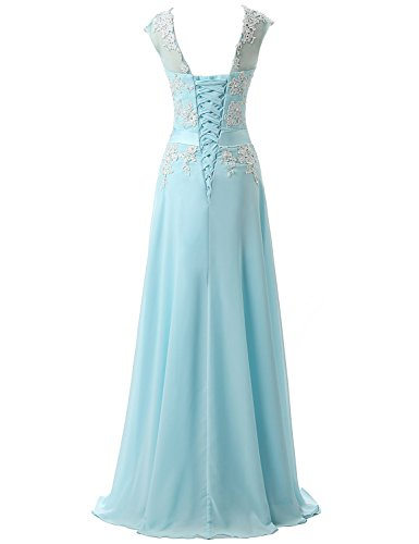 Long House sd181 Navy Women's Belle Dresses Blue Evening Gown Prom Chiffon Beaded Celebrity wq77TWdnEv