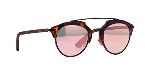 Christian Dior DiorSoReal Sunglasses Black Havana w/Green Pink Mirror Lens 48mm XO20J DiorSoReals DiorSoReal/S Dior So (Best Christian Dior Eye Glasses)