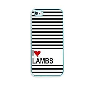 Love Heart Lemures Aqua Silicon Bumper iPhone 5 & 5S Case - Fits iPhone 5 & 5S