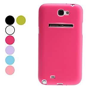 Special Design Soft Case with Stand for Samsung Galaxy Note 2 N7100 (Assorted Colors) --- COLOR:Purple