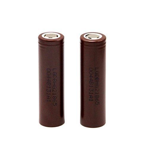 LG HG2 18650 3.7v 3000mAh 20A High Drain Flat Top (2 pack)